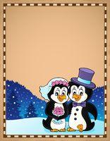 Penguin wedding theme parchment 3