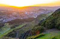 Edinburgh Cityscape At Sunset