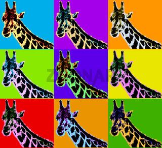 Poster with giraffe
