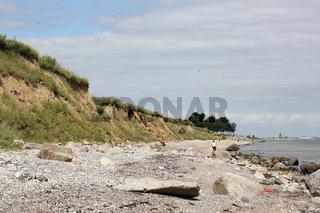 Steilküste der Ostsee auf der Halbinsel Schwansen