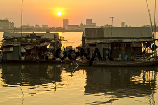 Floating village,Phnom Penh