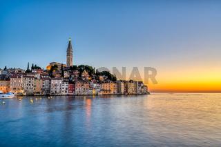 Die schöne Altstadt von Rovinj in Kroatien