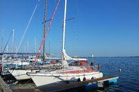 Segelboote in Nowe Warpno, Neuwarp