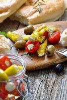 Pikanter griechischer Snack