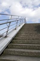 Treppe zum Himmel - Aufgang zur Aussichtsterrasse am Schokoladenmuseum