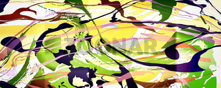 Abstract image with paint strokes of different shapes.