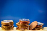 Münzen auf einem Stapel