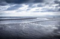 Sandstrand auf der Insel Rügen im Winter