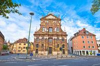 Wurzburg. Saint Michael Catholic Church street view in Wurzburg