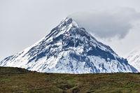 Mountain landscape of Kamchatka: view on Kamen Volcano