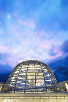 The Reichstag Dome at dusk