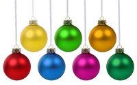 Weihnachten Weihnachtskugeln Advent Kugeln Dekoration hängen Freisteller isoliert freigestellt