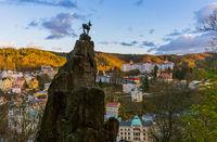 Deer sculpture in Karlovy Vary - Czech Republic
