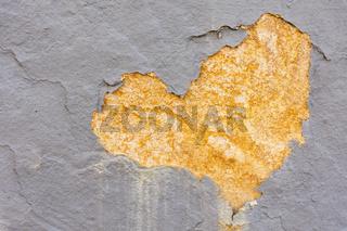 broken brickwork with a heart shape