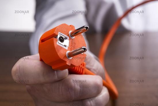 Stecker eines Elektrogeräts