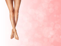 healthy slender female legs