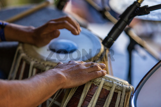 Traditional drummer at cultural festival