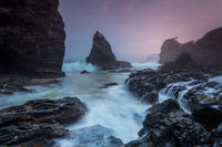 Rugged coastal sunrise