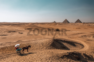 The great Pyramid complex, Giza, Egypt