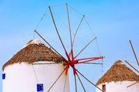 Mykonos island windmill in Greece, Cyclades