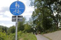 symbolisch Rad-, Wander- und Fußgängerweg