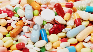 Medizin und Medikamente Header Hintergrund