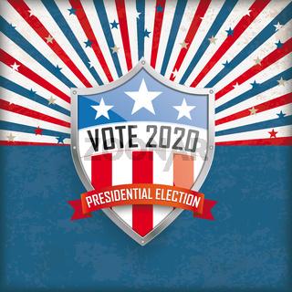 Vote Presidential Election 2020 Retro Sun Shield