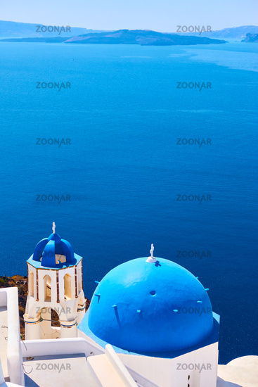 Aegean sea from Santorini island in Greece