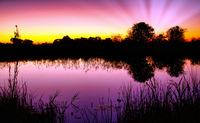 Sonnenaufgang im Bwabwata Nationalpark, Namibia