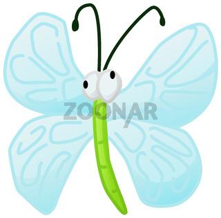 Winged Bug Cartoon Character