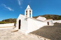 Famous landmark in el Hierro island, Virgen de los reyes ermitage, Canary islands, Spain.