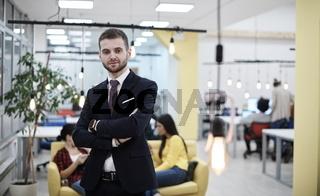 coworking space businessman portrait