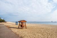 Gyeongpodae beach bench swings