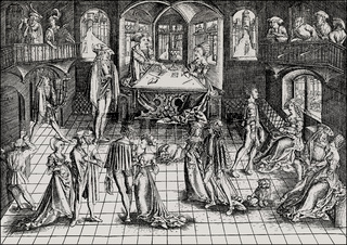 Baronial ball, Duke Albert IV of Bavaria-Munich, 1500, Munich, Germany