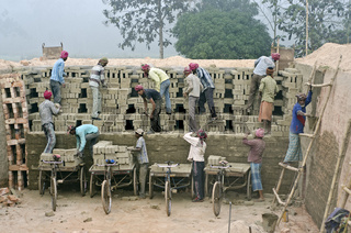 India,brick factory
