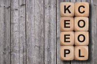 keep cool written on wooden cubes