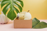 Natural bath accessories, set of natural bath accessories, eco-friendly products