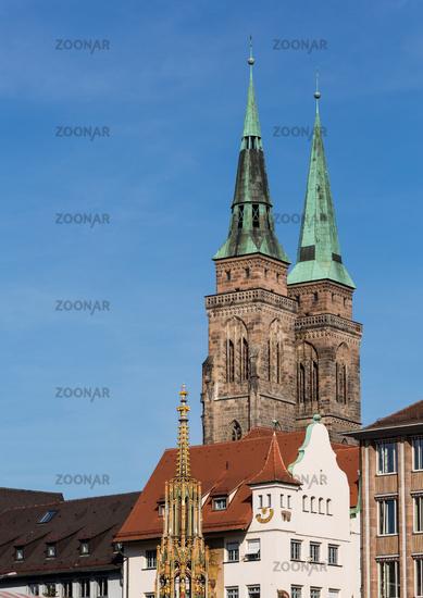 Nuremberg St Sebald Church towers