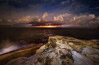 Brilliant lightning storm over the coast of Sydney