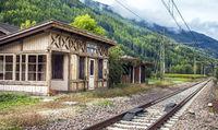 St.Sigmund train station in Trentino South Tyrol Italy