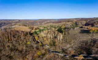 Waldsterben im Harz gerodete Waldflächen