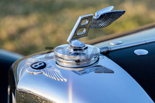 Close-up of a Bentley Emblem