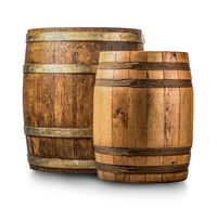 Two wooden casks