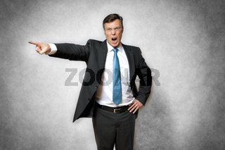 Angry business man