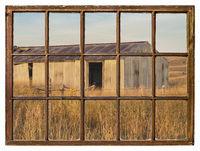 old metal barn in Nebraska Sandhills