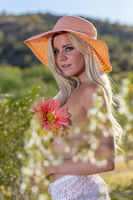 Gorgeous Young Coed Topless Model Enjoying The Warm Weather In The Desert