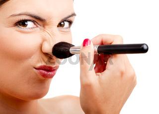 Applying make-up