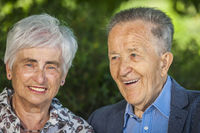Portrait of a cheerful senior couple