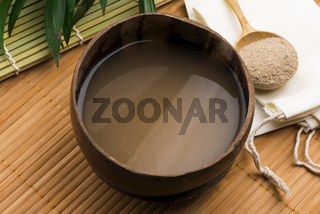 Kava drink made from the roots of the kava plant mixed with water