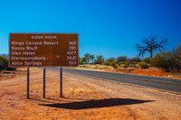 Scenic Route Sign in Outback Australia